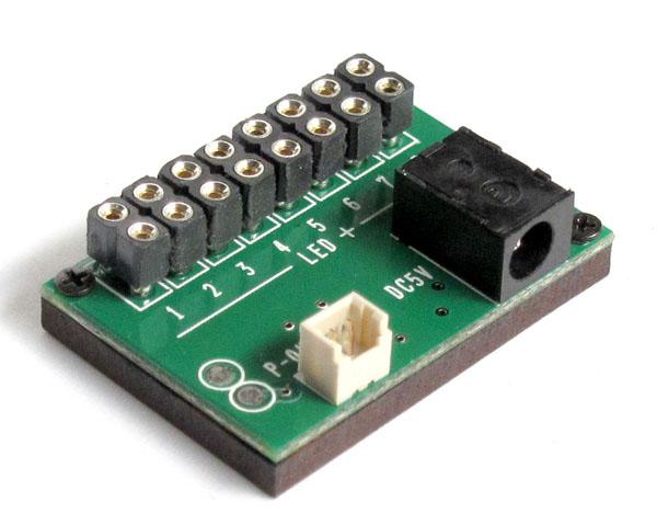 常時点灯 基本基板 (コネクタ付LEDライト用 8個取付け可能) :さかつう 素材 2570