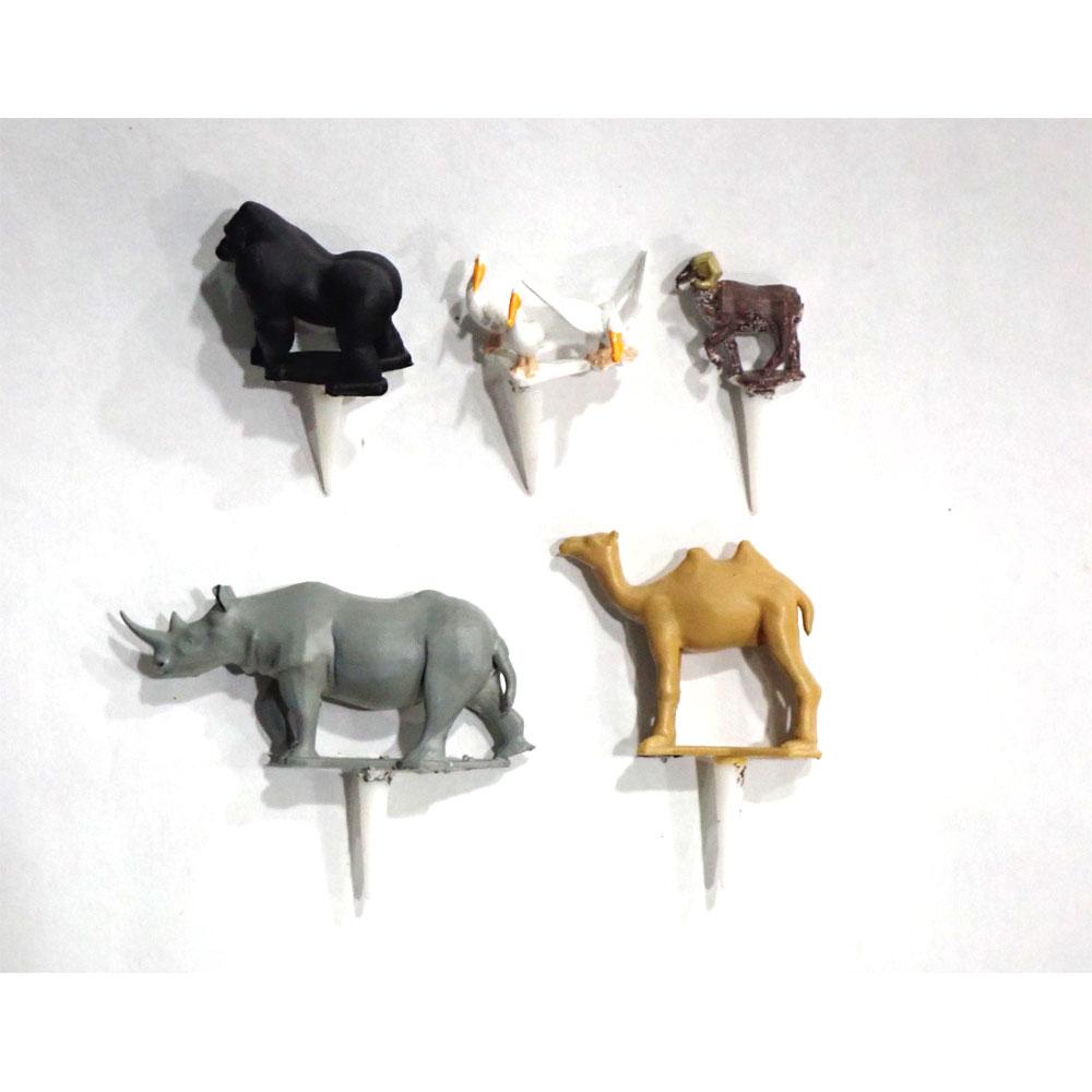 園芸ジオラマ作成用ミニチュア 動物セットF :アイコム 塗装済完成品 ノンスケール GM6P