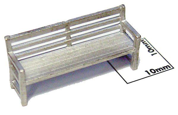 ベンチ(角袖タイプ) 2個入り :エコーモデル 未塗装キット HO(1/80) 435