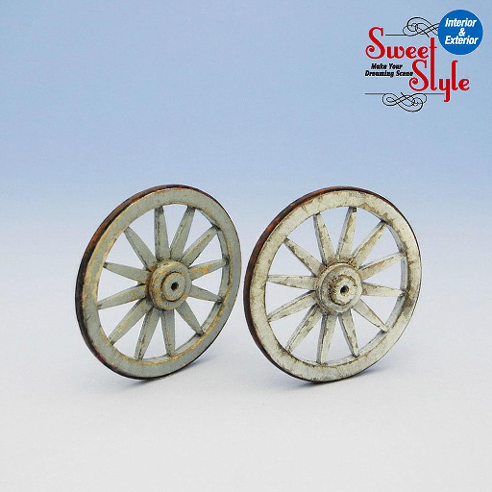 荷車の車輪 2ヶ入り :コバーニ 未塗装キット 1/24 ss-015