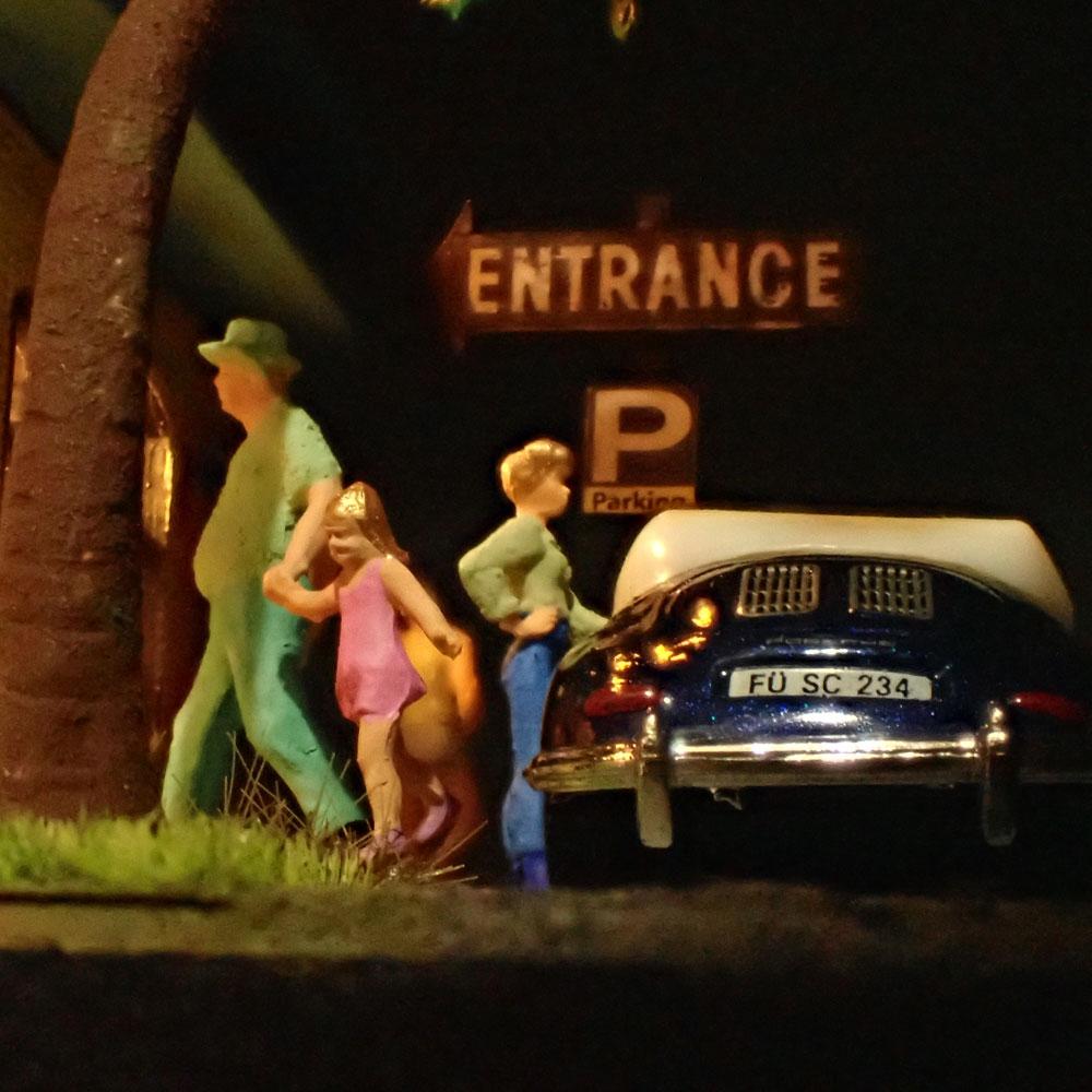 90ミリキューブミニチュア 「Motor Hotel.3」 :太郎 塗装済完成品 ノンスケール