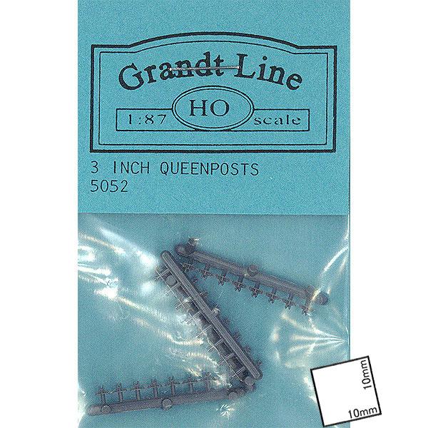 クイーンポスト 高さ0.9mm  :グラントライン 未塗装キット HO(1/87) 5052