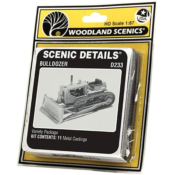 ブルドーザー :ウッドランド 未塗装キット HO(1/87) D233