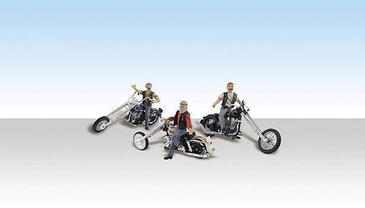 カスタム・チョッパーバイク :ウッドランド 塗装済完成品 HO(1/87) AS5554