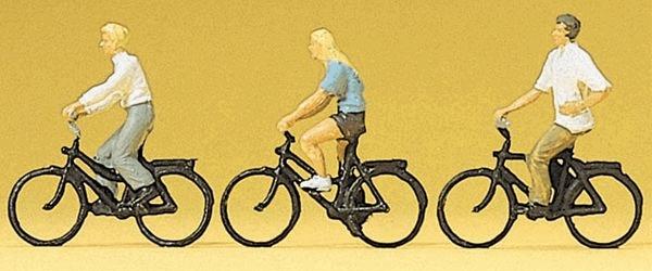 自転車に乗る人たち :プライザー 塗装済完成品 HO(1/87) 10336