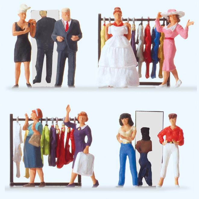 ファッション店の人々 :プライザー 塗装済完成品 HO(1/87) 10586