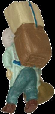 さかつう人形シリーズまなべコレクション 担ぎやのおばさんA :さかつう 塗装済完成品 HO(1/87) 7506