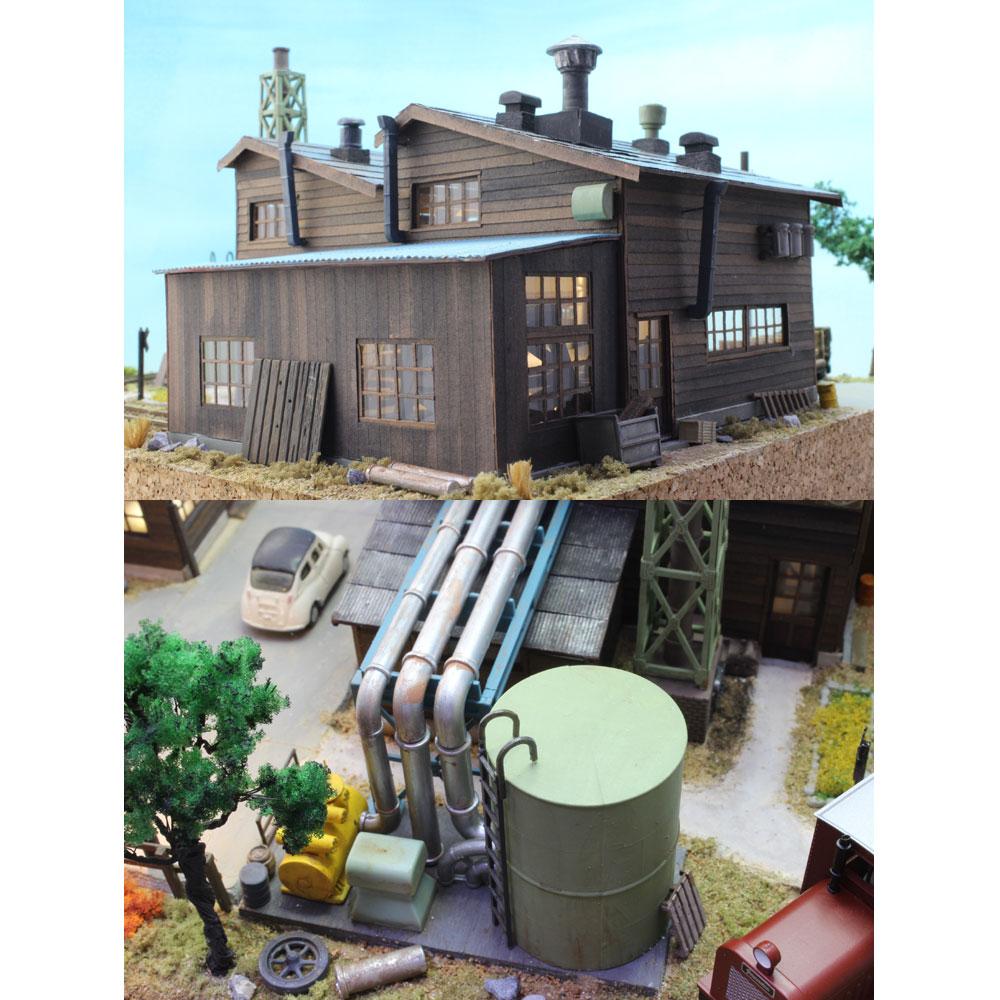 鋸屋根の工場をめぐるナローパイク :池田邦彦 塗装済完成品 1/80サイズ