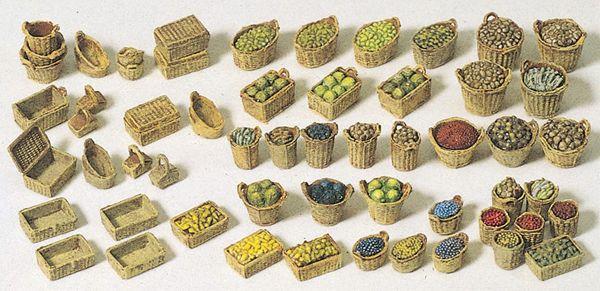 編みカゴと野菜、果物 :プライザー キット HO(1/87) 17502