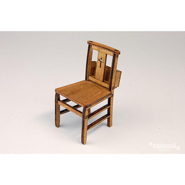 チャーチチェアー 教会の椅子 :コバーニ 未塗装キット 1/12 WF-019