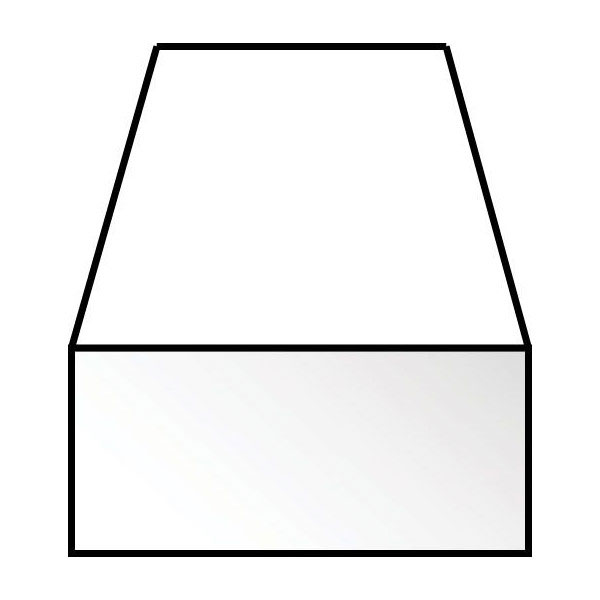 角棒 1.5 X 1.5 x 350 mm :エバーグリーン プラ材 ノンスケール 153