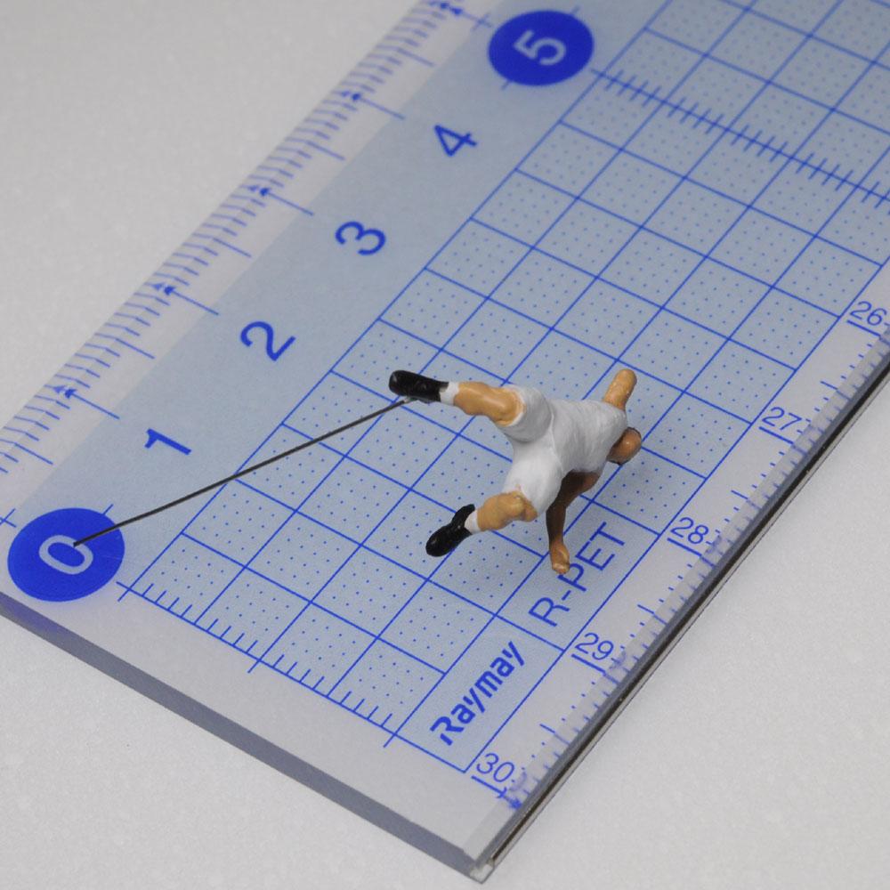 アスリート人形 バスケットボール ダンクシュートA :さかつう 3Dプリント 完成品 HO(1/87) 208