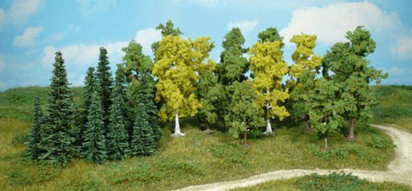 広葉樹&針葉樹 5〜11cm 26本 :ヘキ 完成品 ノンスケール 1230