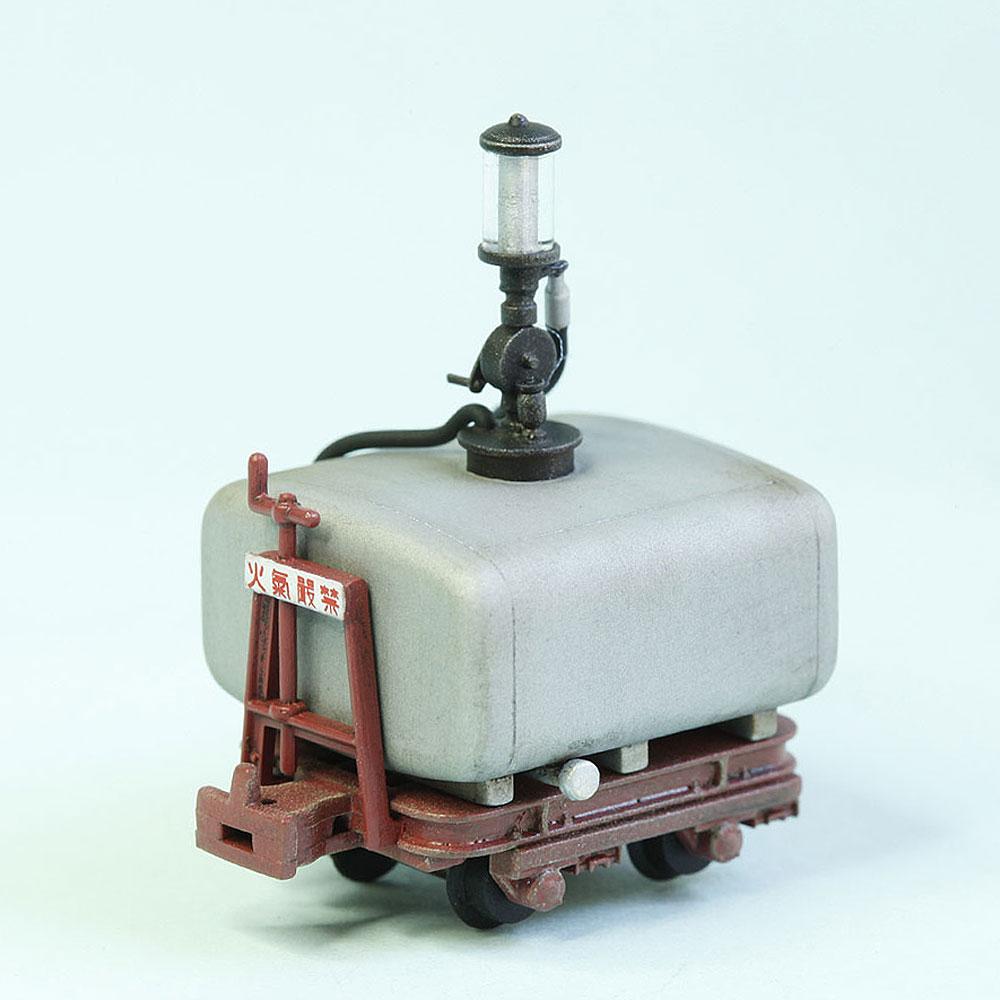 木曾森林鉄道 田島タイプ ガソリン計量車 (銀色タンク/赤茶台車) :工房ナナロクニ 塗装済完成品 1/87(HO) 1041