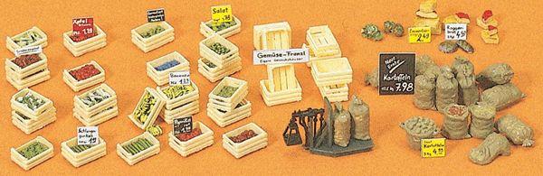 木箱と野菜、果物 :プライザー キット HO(1/87) 17501