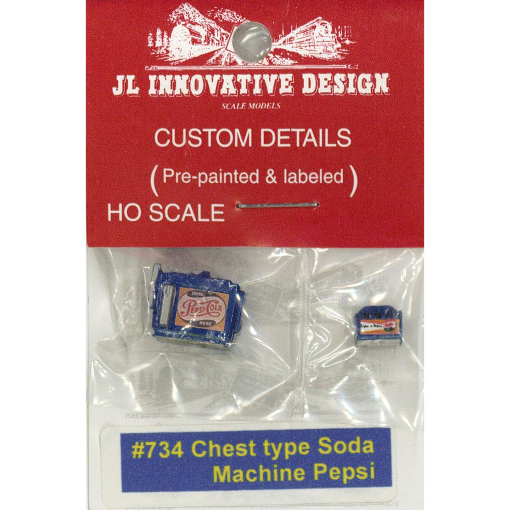 ペプシチェストタイプソーダマシーン(ジュース自販機) :JLイノベーティブデザイン 塗装済み完成品 HO(1/87) 734