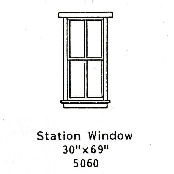 洋風窓 窓枠 :グラントライン 未塗装キット(部品) HO(1/87) 5060