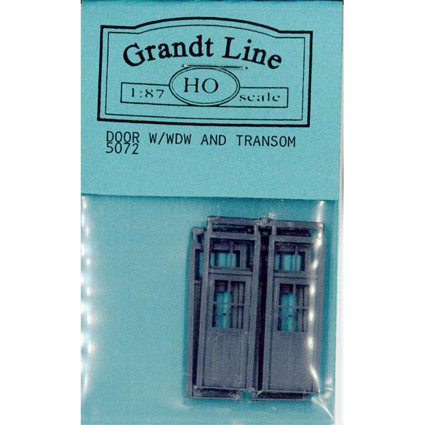 木製ドア 明り取り窓つき :グラントライン 未塗装キット(部品) HO(1/87) 5072