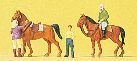 乗馬する人たち :プライザー 塗装済完成品 N(1/160) 79186