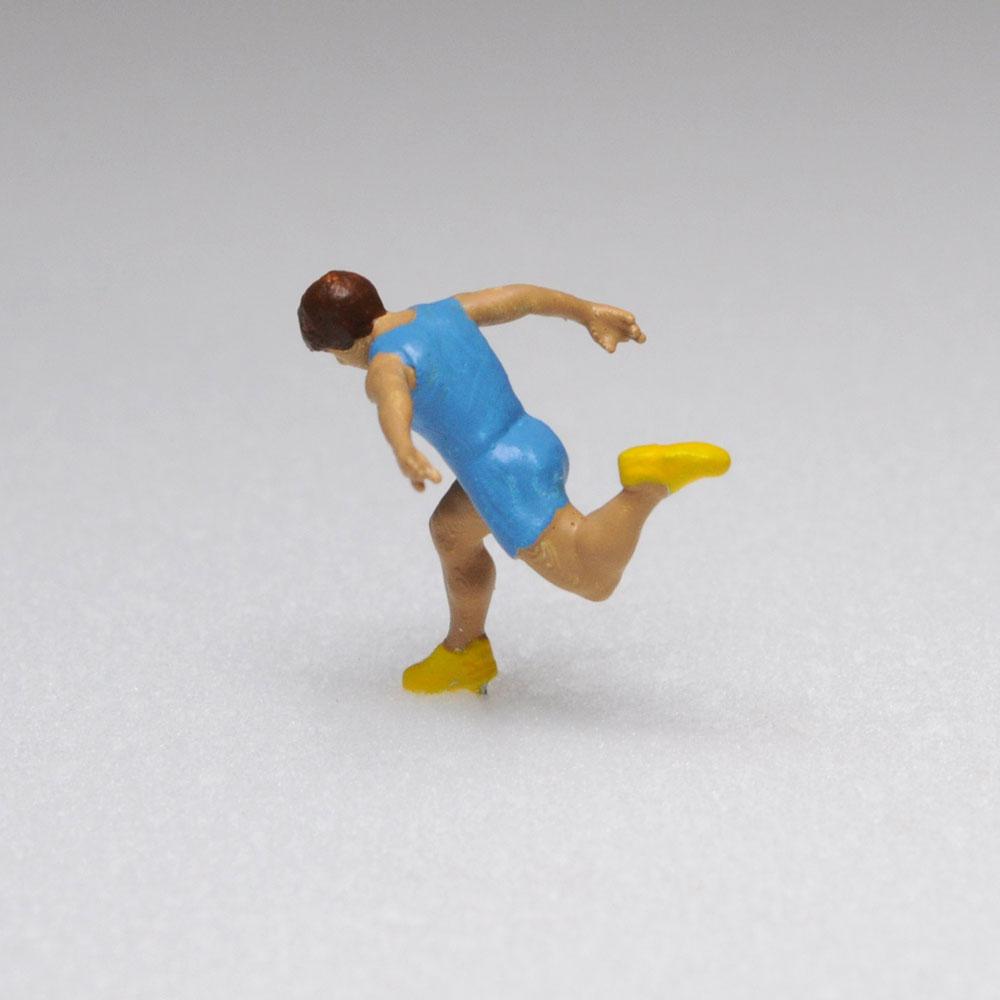 アスリート人形 短距離走 ゴールA :さかつう 3Dプリント 完成品 HO(1/87) 204