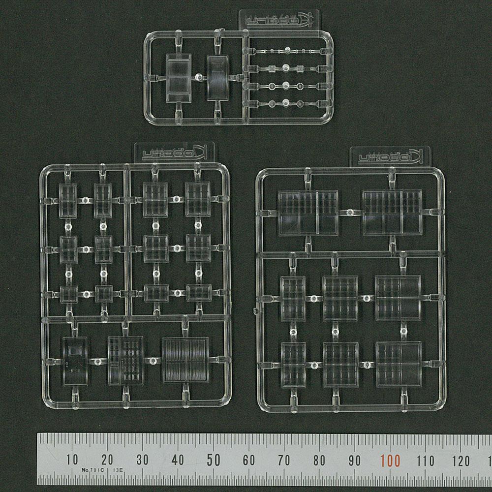 【模型】 ドアと窓(古風) ※こばる同等品 :さかつう 未塗装キット N(1/150) 3731