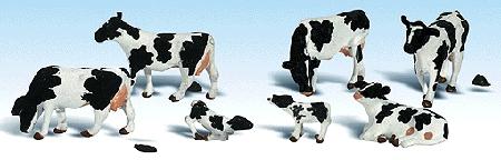 ホルスタイン牛 :ウッドランド 塗装済完成品 HO(1/87) 1863