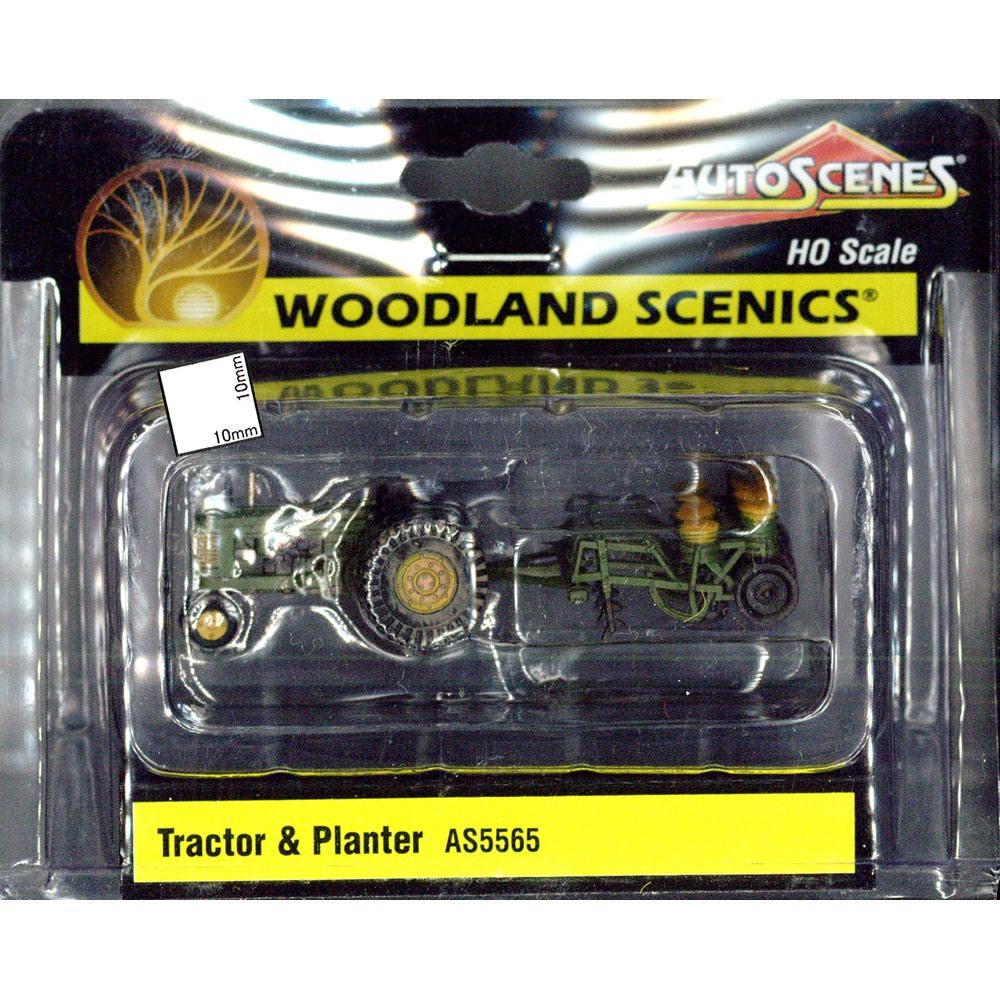 トラクターとプランター :ウッドランド 塗装済完成品 HO(1/87) AS5565