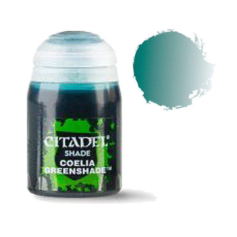 シタデル・シェイド Coelia Greenshade(コーリア・グリーンシェイド) ※内容量24ml :ゲームズワークショップ つや消し塗料 24-22