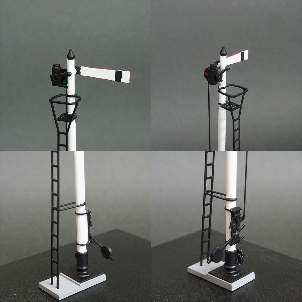 1/80 国鉄型腕木式出発信号機 <可動タイプ> :工房ナナロクニ 塗装済完成品 1/80(HO) 1045
