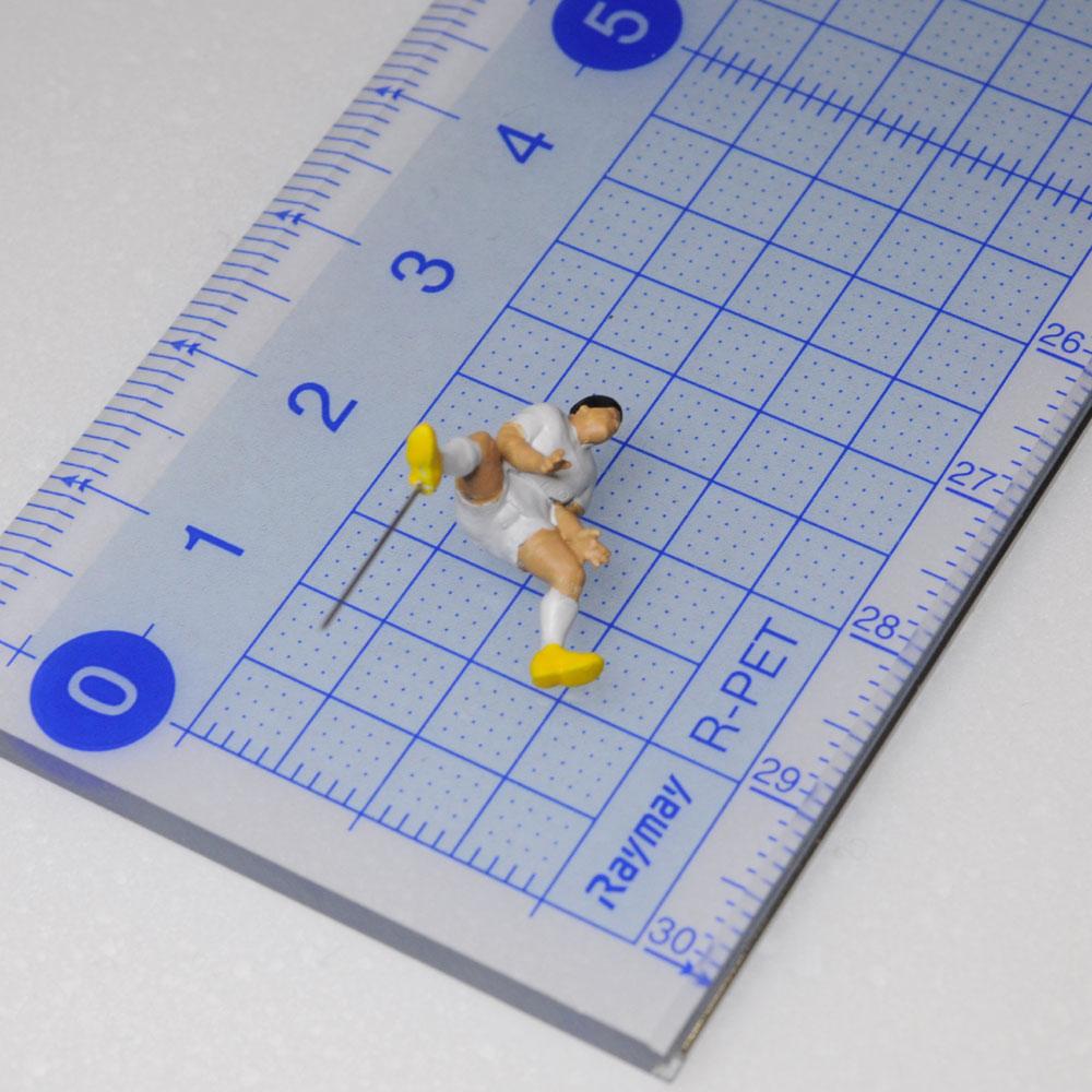 アスリート人形 ラグビー ディフェンスA :さかつう 3Dプリント 完成品 HO(1/87) 222