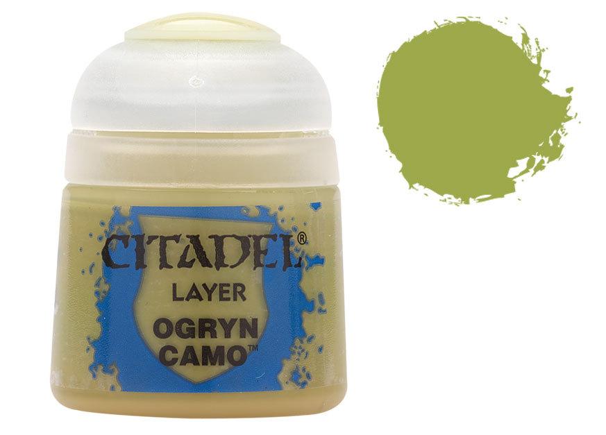 シタデル・レイヤー Ogryn Camo(オグリン・カモ) :ゲームズワークショップ つや消し塗料 22-31
