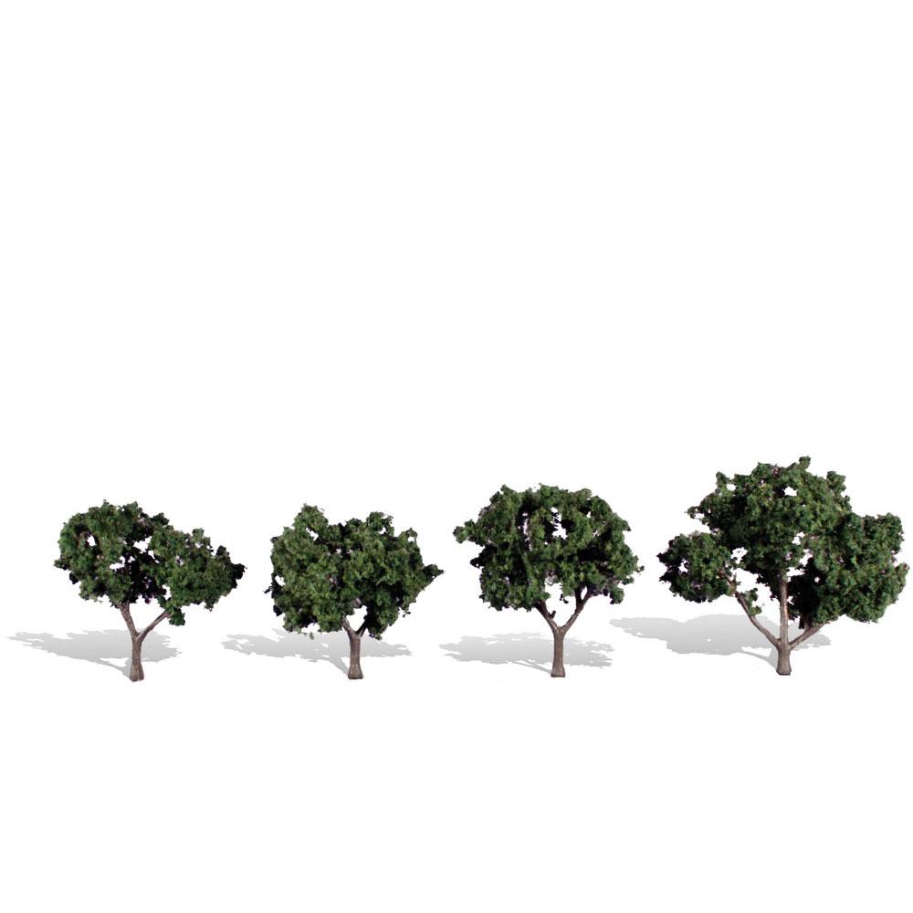 広葉樹 5〜7.6cm 4本 :ウッドランド 完成品 ノンスケール 3505