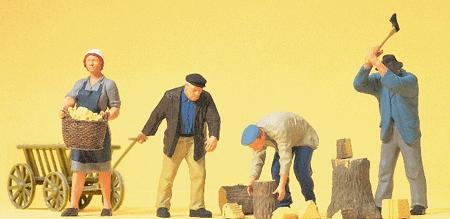 農作業をする人たち :プライザー 塗装済完成品 HO(1/87) 10539