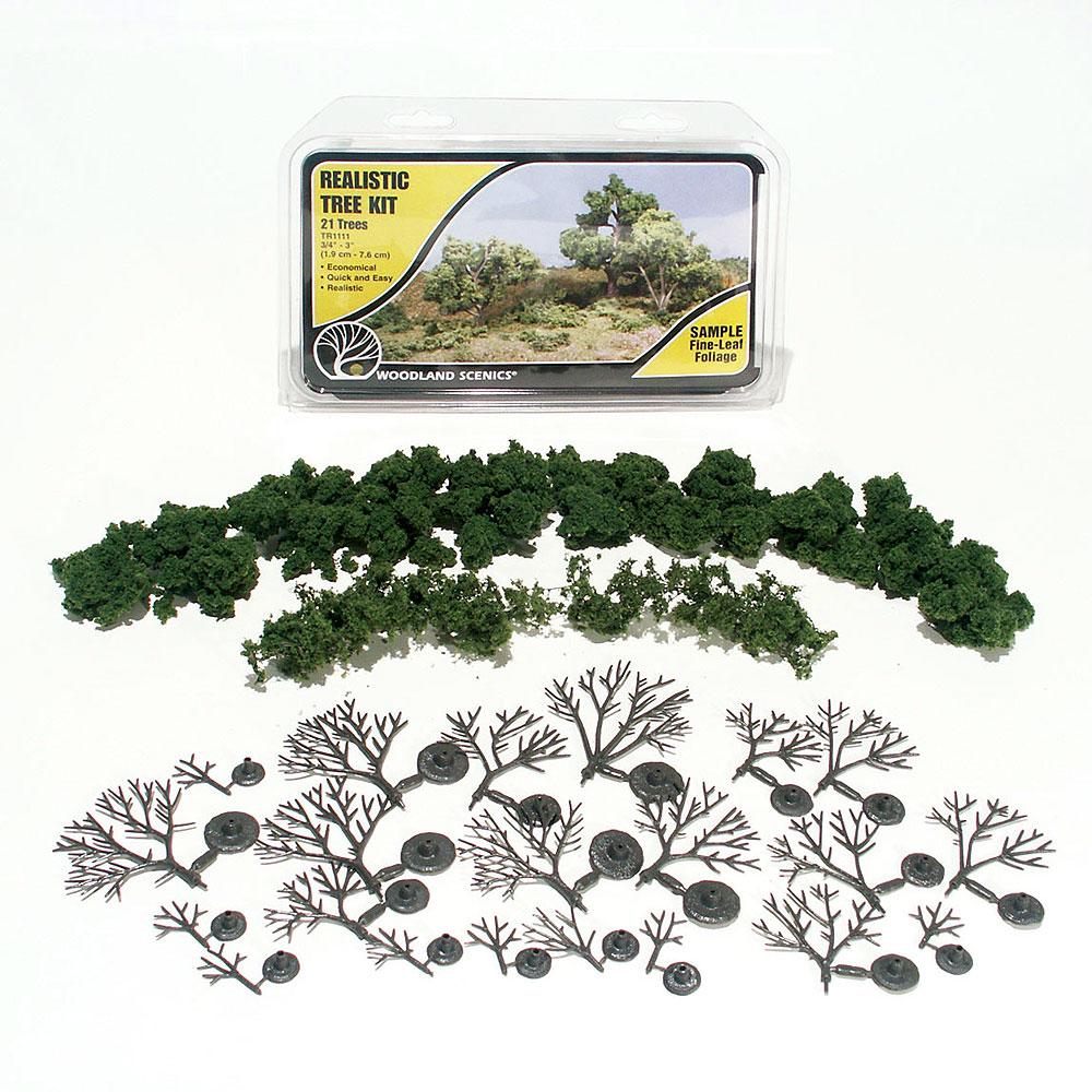 樹木キット 1.9〜7.6cm :ウッドランド 素材 ノンスケール TR1111