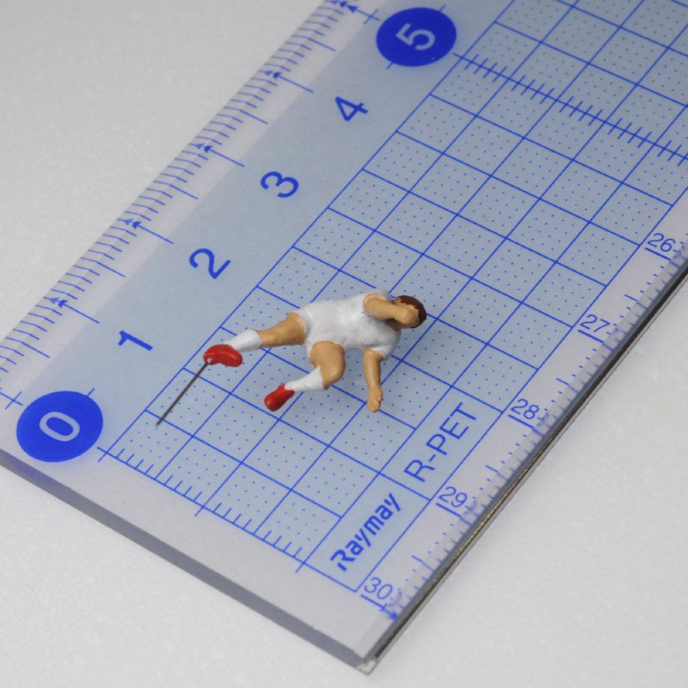 アスリート人形 ラグビー タックルA :さかつう 3Dプリント 完成品 HO(1/87) 223