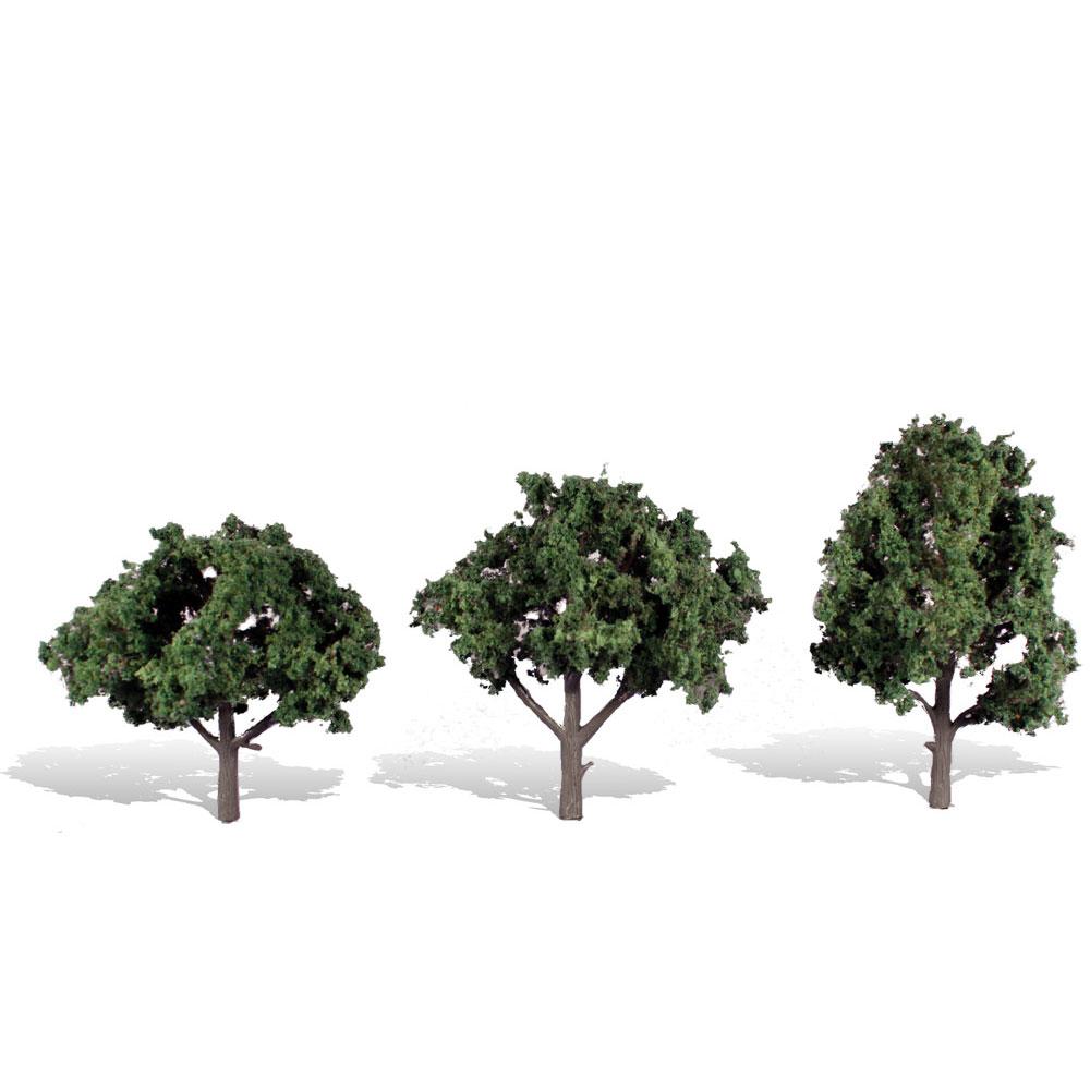 広葉樹 10.1〜12.7cm 3本 :ウッドランド 完成品 ノンスケール 3511