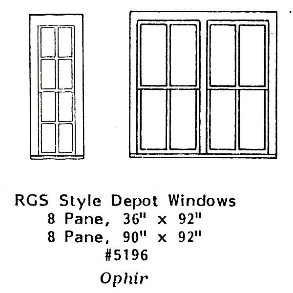 洋風窓 RGSスタイル窓枠セット :グラントライン 未塗装キット(部品) HO(1/87) 5196