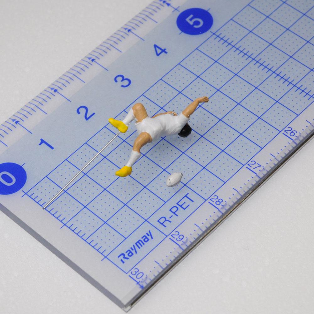 アスリート人形 ラグビー トライA :さかつう 3Dプリント 完成品 HO(1/87) 224