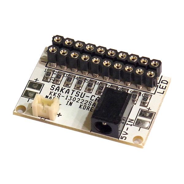 常時点灯10 基本基板(コネクタ付LED用 10灯取付け可能) :さかつう 電子部品 2574