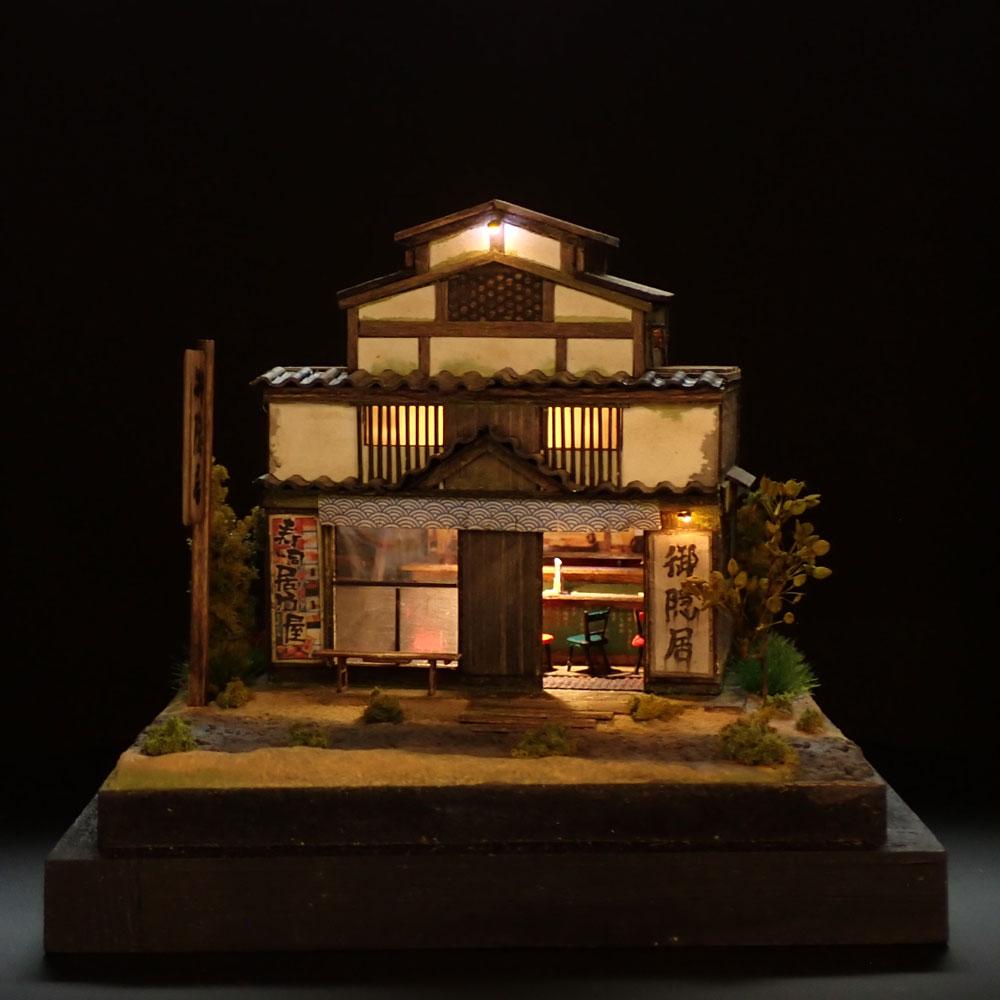 90ミリキューブミニチュア 「すし居酒屋御隠居」 :太郎 塗装済完成品 ノンスケール