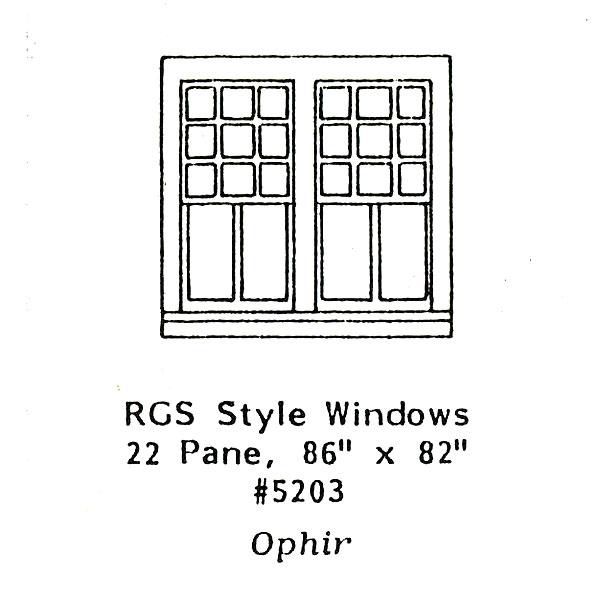 洋風窓 窓枠 RGSスタイル2重窓 :グラントライン 未塗装キット HO(1/87) 5203