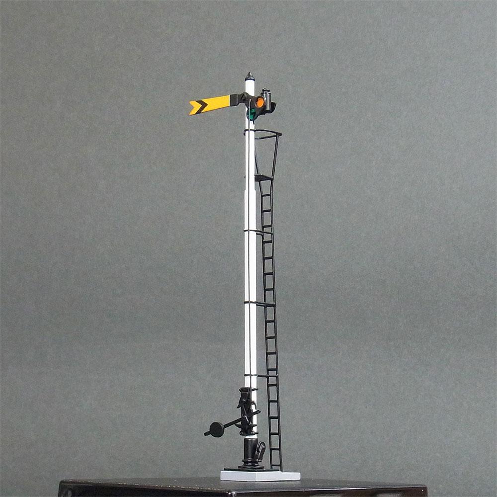 1/80 国鉄型腕木式信号機 「遠方信号機」 <可動タイプ> :工房ナナロクニ 塗装済完成品 1/80(HO) 1048
