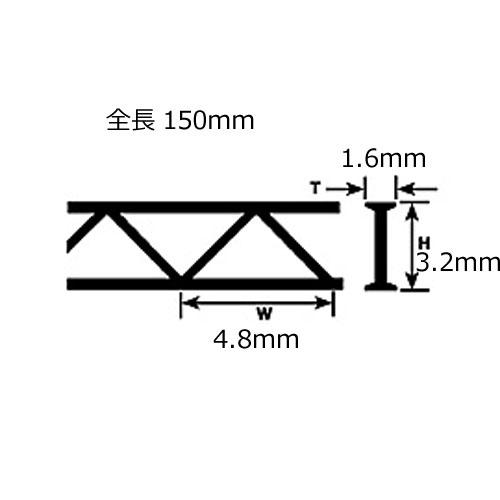 トラス(ABS)2本入 :プラストラクト プラ材 1/200 OWTA-4(90401)