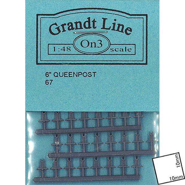 クイーンポスト 高さ3.2mm  :グラントライン 未塗装キット O(1/48) 0067