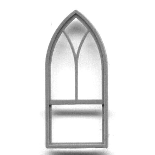洋風窓 ゴシック式窓枠  :グラントライン 未塗装キット(部品) HO(1/87) 5254