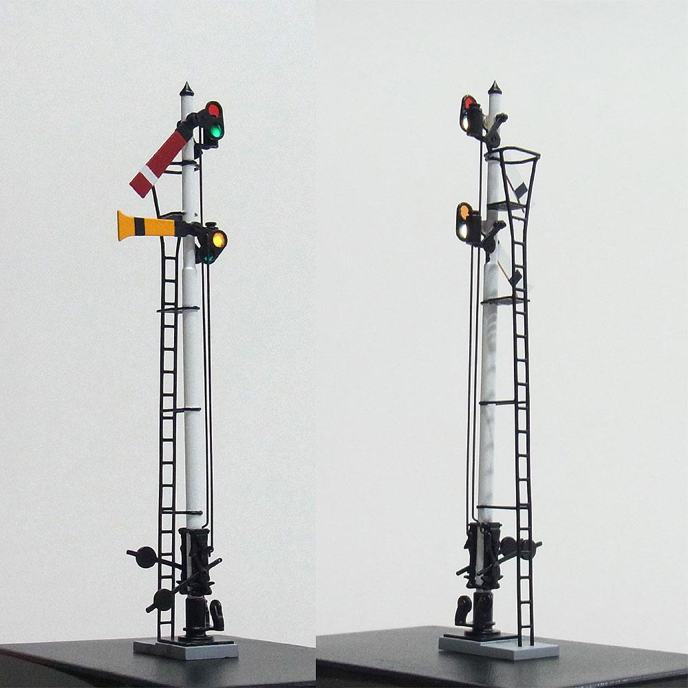 1/80 国鉄型腕木式信号機 「場内/通過信号機」 <可動タイプ> :工房ナナロクニ 塗装済完成品 1/80(HO) 1049