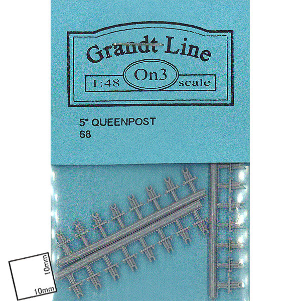 クイーンポスト 高さ2.6mm  :グラントライン 未塗装キット O(1/48) 0068