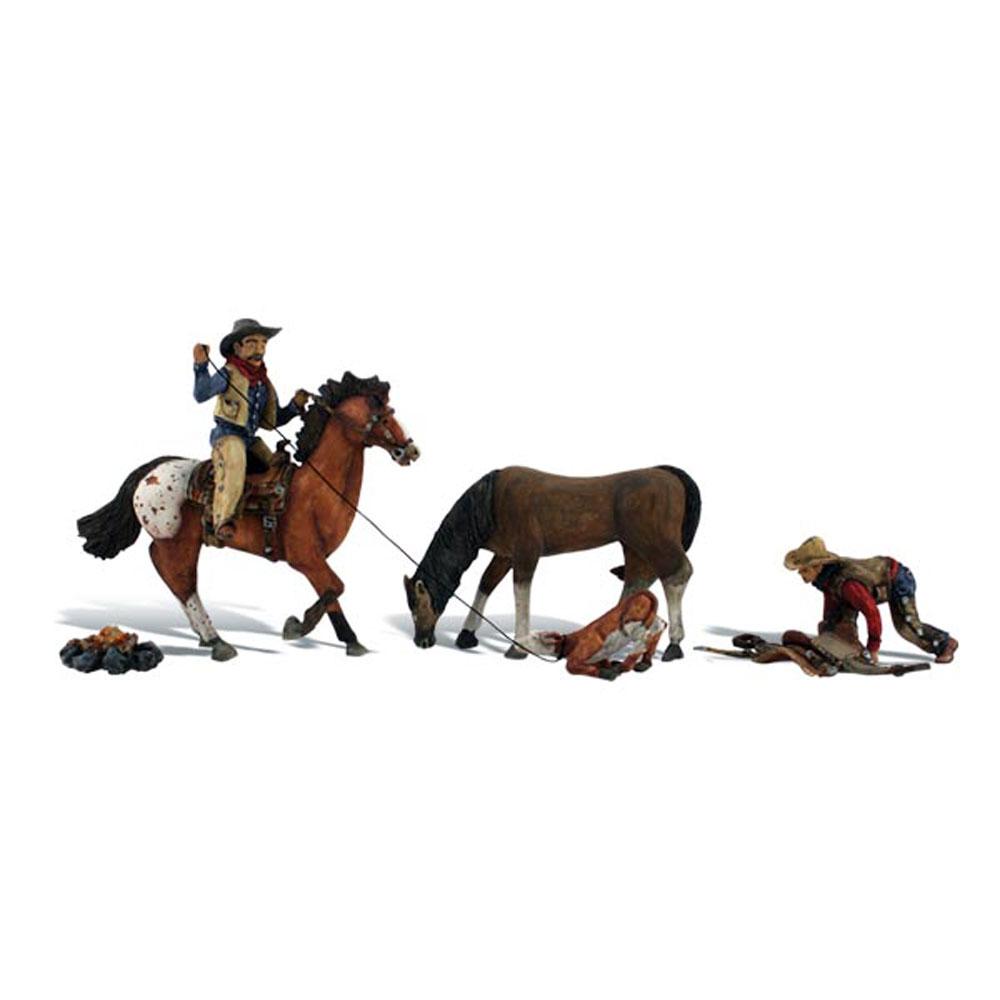 馬に乗ったカウボーイ :ウッドランド 塗装済完成品 HO(1/87) 1940