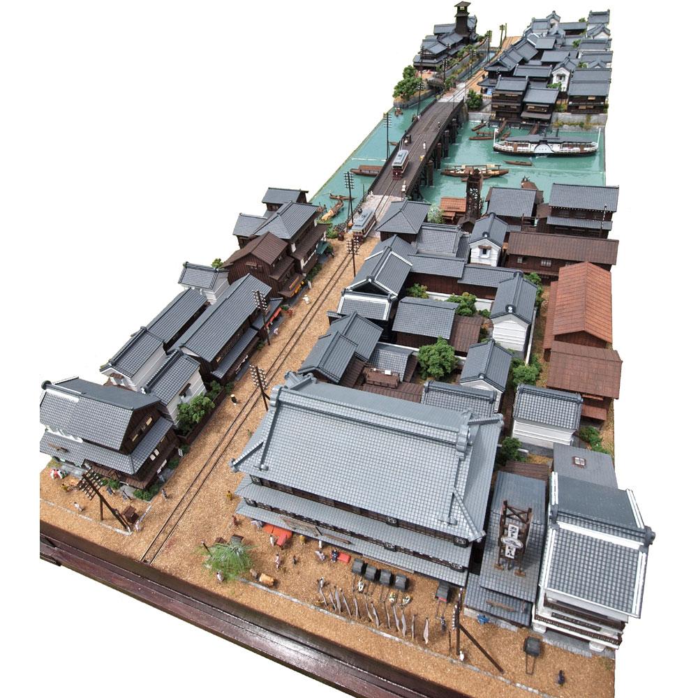 東京下町の路面電車モジュール1+2 :山尾比呂士 塗装済完成品 1/150サイズ