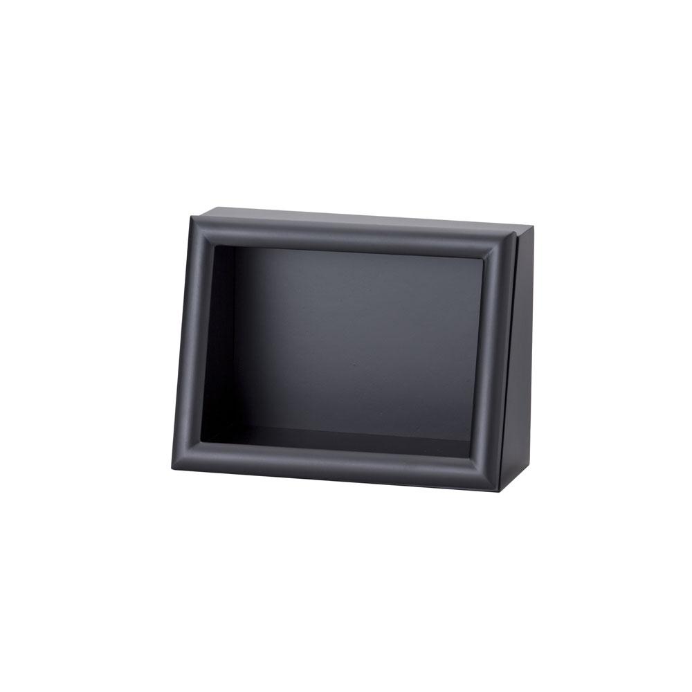 ななめボックス AC 2Lヨコ ブラック :cazaro 展示ケース B0202